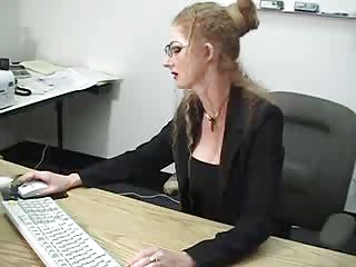 Sexy Blonde MILF Squirts In The Office | Squirt.top Porn Tube