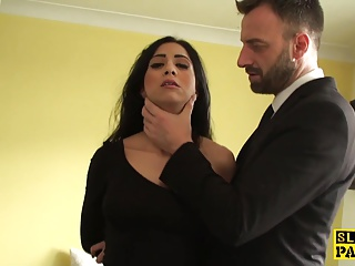Squirting Brit Submissive Is Cumswallowing | Squirt.top Sex Tube