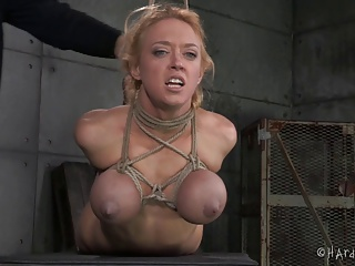 Big Tits Blonde In Rope Bondage | Squirt.top Porn Tube