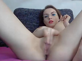 Hottie In Glasses Rubs Pussy And Puts On A Huge Squirt Show   Squirt.top Porn Tube