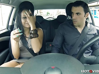 Horny Latin GF Squirts In His Car | Squirt.top Porn Tube