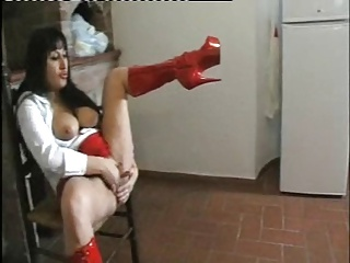 Girl In Red Boots Has A Squirting Pussy By TROC   Squirt.top Sex Tube