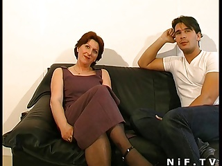 French Hairy Cougar Squirts N Gets Anal Fucked N Facialized   Squirt.top Porn Tube