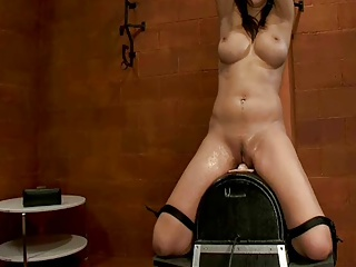 Hot Girl Tied Made To Squirt On Sybian | Squirt.top Sex Tube