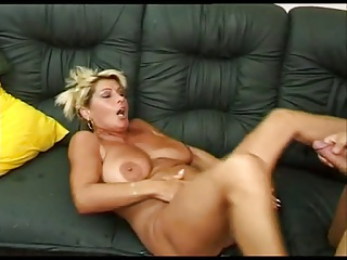 Renate Fucking And Squirting On Black Sofa BVR | Squirt.top Porn Tube