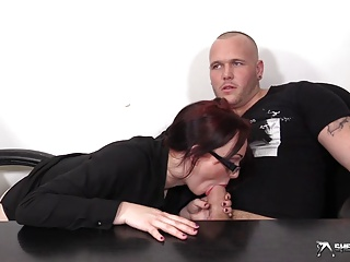 Horny Busty Secretary Sucking Her Boss' Cock | Squirt.top Porn Tube