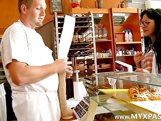 The Brunette Likes The Big Baguette Of The Baker | Squirt.top Porn Tube
