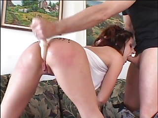Guy Shoves Beads In Brunette's Ass | Squirt.top Sex Tube